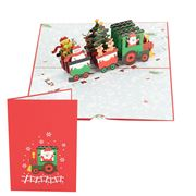 Colorpop - Christmas Train Pop Up Card Medium Card