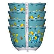 Le Cadeaux - Madrid Dessert Bowls Turquoise Set 4pce