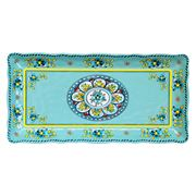 Le Cadeaux - Madrid Biscuit Tray Turquoise 12.7cmx25cm