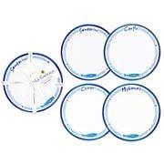 Le Cadeaux - Santorini Appetizer Plates Set 4pce
