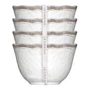 Le Cadeaux - Rustica Dessert Bowls White Set 4pce