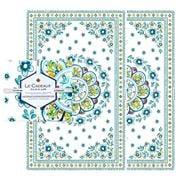 Le Cadeaux - Madrid Tea Towel Turquoise Set 2pce