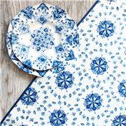 Le Cadeaux - Moroccan Rectangle Tablecloth Blue 175x249cm
