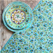 Le Cadeaux - Madrid Rectangle Tablecloth Turquoise 175x304cm