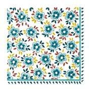 Le Cadeaux - Madrid Paper Cocktail Napkins Turquoise 20pk