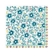 Le Cadeaux - Madrid Paper Dinner Napkins Turquoise 20pk