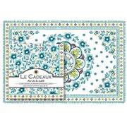 Le Cadeaux - Madrid Paper Placemats & Napkins Set 40pce