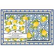 Le Cadeaux - Palermo Paper Placemats & Napkins Sets 40pce