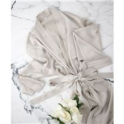 Silk Magnolia - Silk Robe Pearl Grey Medium