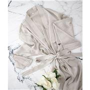 Silk Magnolia - Silk Robe Pearl Grey Extra Large