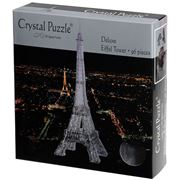 Games - 3D Crystal Jigsaw Puzzle Blk Dlx Eiffel Tower 96pce
