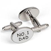 Onyx-Art - No. 1 Dad Cufflinks