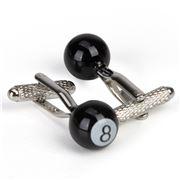 Onyx-Art - 8 Ball cufflinks