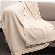Bemboka - Pure Cotton Trieste King/Queen Blanket Wheat