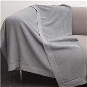 Bemboka - Pure Cotton Trieste King/Queen Blanket Grey