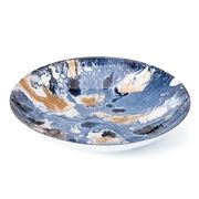 Anya - Curacao Platter Blue and Gold 33.2x6.5x33.2cm