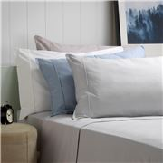 Bianca - Fletcher Flannelette Sheet Set Steel Blue KSB 3pce