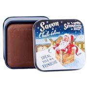 La Savonnerie De Nyons - Santa Choc. Scented Soap Tin 100g