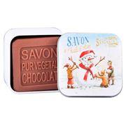 La Savonnerie De Nyons - Snowman Choc. Scented Soap Tin 100g
