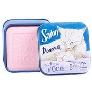 La Savonnerie De Nyons - Cat & Kitten Rose Tinned Soap 100g