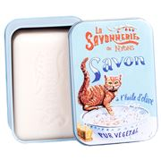 La Savonnerie De Nyons - Ginger Cat C/Flower Tin Soap 200g