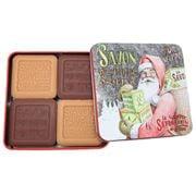 La Savonnerie De Nyons - Santa w/ Presents Soap Tin Set 4pce