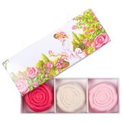 La Savonnerie De Nyons - Extra Gentle Soap Set Rose 3pce
