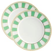 Noritake - Carnivale Cake Plate Apple Green Set 2pce