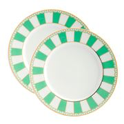 Noritake - Carnivale Small Cake Plate Apple Green Set 2pce