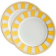 Noritake - Carnivale Cake Plate Yellow Set 2pce