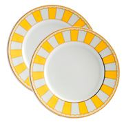 Noritake - Carnivale Small Cake Plate Yellow Set 2pce
