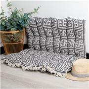 Aelia Anna - Pillow Meandros Black 85x85cm