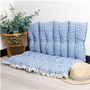 Aelia Anna - Pillow Meandros Parl Blue 85x85cm