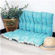 Aelia Anna - Pillow Meandros Turquoise 85x85cm