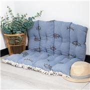 Aelia Anna - Pillow Mati Blue Jean 85x85cm