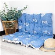 Aelia Anna - Pillow Mati Parl Blue 85x85cm