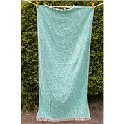 Aelia Anna - Beach Towel Fish Emerald 94x180cm