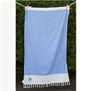 Aelia Anna - Beach Towel Ithaki Evil Eye Mid Blue 100x175cm