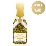 Music Box Card - Congrats Gold Champagne Cracker Card