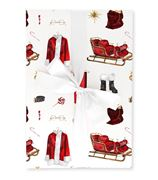 The Lust List - Wrapping Paper Pack Of 5 Santa