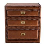 Vandenberg - Flemming Side Table Leather Tobacco