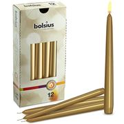Cool Candles - Bolsius Gothic Tapers Gold 12pk