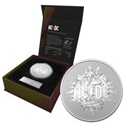 RA Mint - AC/DC 2021 $1 Silver Frosted Uncirculated Coin