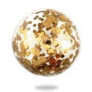 Minnidip - Gold Confetti Beach Ball