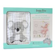 Bubba Blue - Aussie Animal Milestone Muslin Blanket