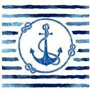 Coastal Home - Napkin Anchor Stripe 20pk 33cm