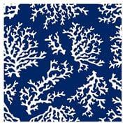 Coastal Home - Napkin Coral Blue 20pk 33cm