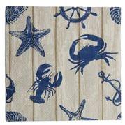 Coastal Home - Napkin Seaside Blue/Nat 20pk  33cm