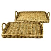 Coastal Home - Lima Natural Willow Trays Set 2pce