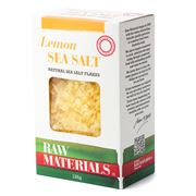 Raw Materials - Lemon Natural Sea Salt Flakes 125g